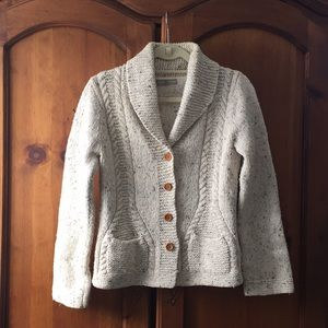 J. Crew Knit By Hand Wool Cardigan